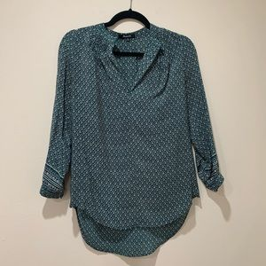 Madewell Green Printed Blouse XS